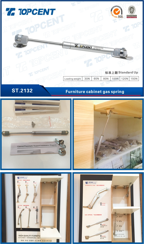 [ST.2132] High Quality Easy Lift Hydraulic Gas Spring for Furniture Cabinet Door