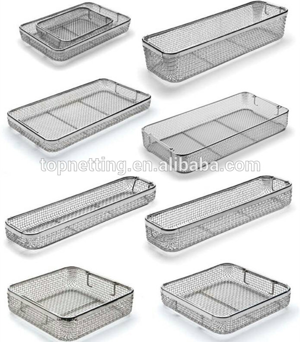 wire mesh trays & baskets / Sterilizing Baskets