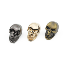 // Factory price skull alloy buttons for jeans // metal skull button snaps abs skulls button // BK-BUT591