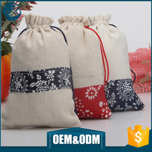 Wholesale custom eco small packaging cotton muslin pouch canvas drawstring bag