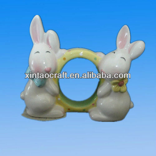 Ceramic Chopstick Rest With Rabbits