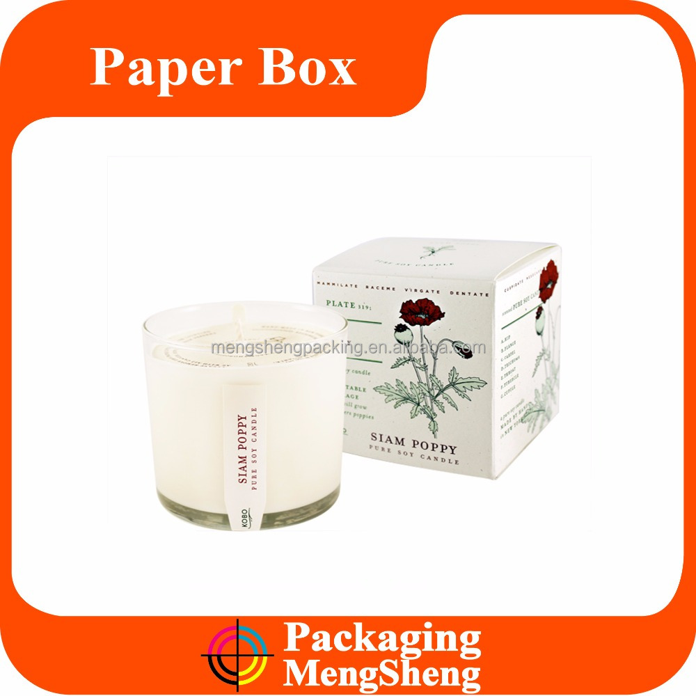 Fancy Gift Packaging Paper Cardboard Box Wholesale for Candle