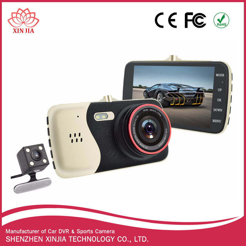 2017 new arrival hot selling dual camera car dvr 3.0 inch LCD dash cam 1080p car driving recorder