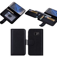 For Samsung Galaxy S7 Leather Case, 7 Card Slots PU Leather Flip Wallet Skin Cover for Galaxy S7