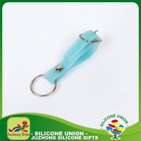 Promotion silicone wholesale charms keychain