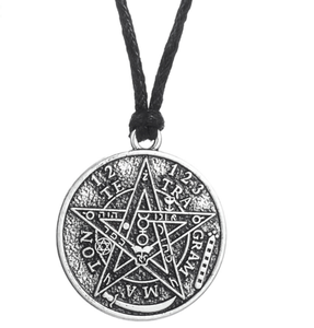 Supernatural Amulet Tetragrammaton Pentagram Pentacle Wiccan Retro Necklace Men