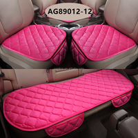 Universal Type Auto Interior Accessories Soft Pink Car Seat Cover For Front And Rear Seats