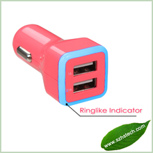 5V 3.1a Car Charger Dual USB Port Mini Car Charger For iPad,iPad 2,iPhone,iPod