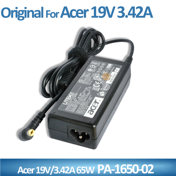 19v 3.42a 65w original laptop adapter for acer pa-1650-02 ac dc adapter genuine new laptop charger