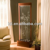 glass waterfall room dividers for bedroom