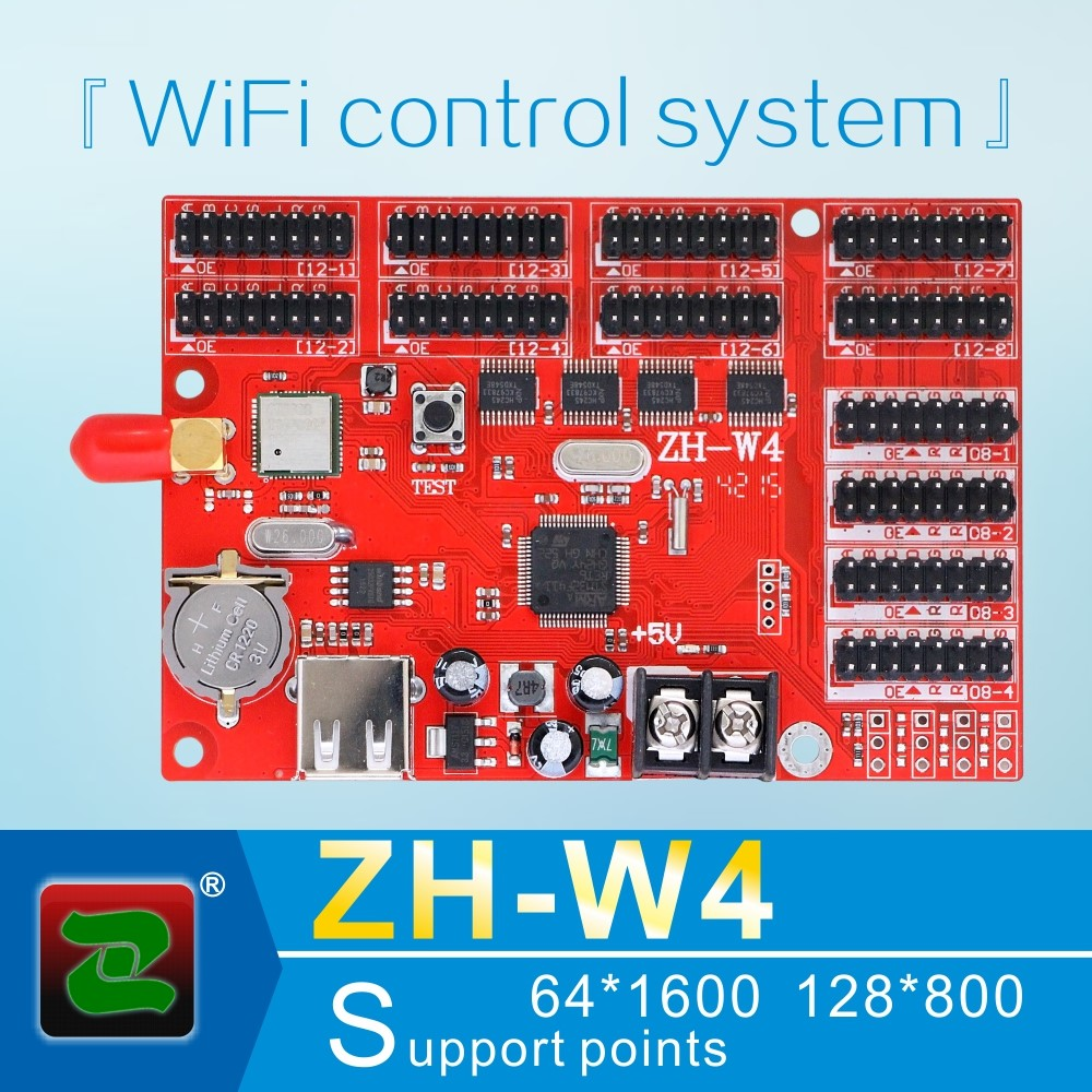 Zhonghang wireless rgb ZH-W4 led controller card for P10 rgb screen display