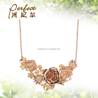 Indian gold design jewelry set ,gold flower wedding necklace and bangle set ,big necklace design with gold plated