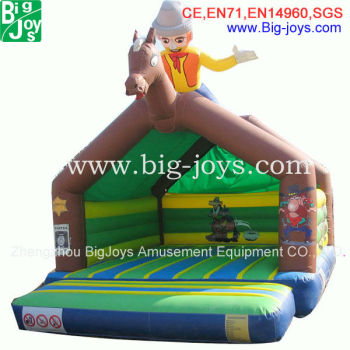 Inflatable Castle With EN14960 Standard Attracting Cowboy Bouncer