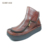 New design italy zipper style ladies casual leather shoes chunky heel platform shoes women
