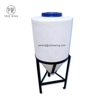 Customized Rotomolding 100L Plastic Cone Bottom PE Dosing Tank For Beer Fermentation