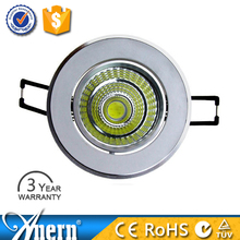 Round 3W surface mounted led ceiling pot lights with CE RoHS approval