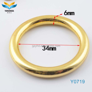 YHD fashion zinc alloy decorative D-rings O-rings for handbag hardware