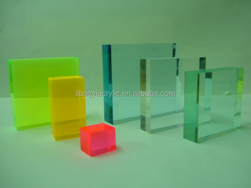 High quality beautiful colored acrylic block