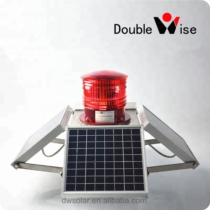 Doublewise 1-20NM 100% waterproof Solar Beacon Marine Navigation <strong>Light</strong>