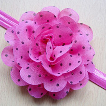 Professional hair accessories designer wholesale elastic baby chiffon <strong>headbands</strong>