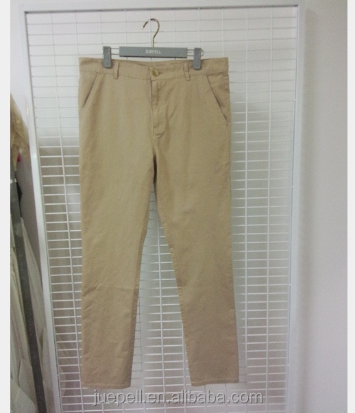 OEM men's cotton chino pants/high quality winter trousers for men