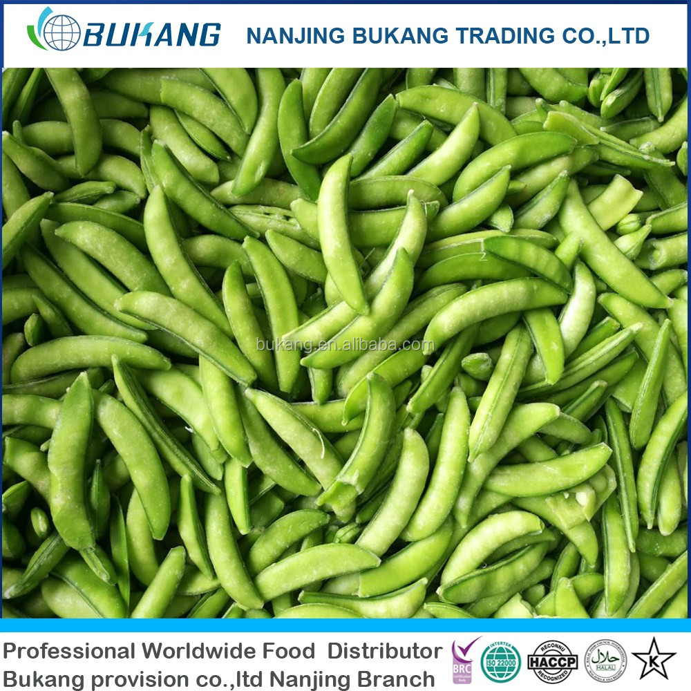 IQF sugar snap bean frozen green beans cut 3-5cm iqf sugar snap bean