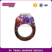 Guangzhou experienced manufacturer wholesale wood epoxy resin ring,wood ring
