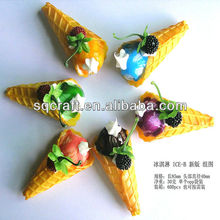 Artificial ice cube / 3D fake food magnet / High quality plastic cakes model