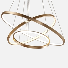 <strong>Modern</strong> led chandelier luxury lighting acrylic chandelier lustre ring lamp for living room