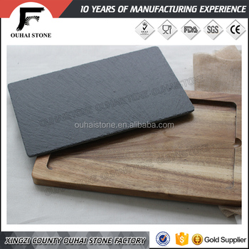 Black slate tableware slate cheese board table placemat