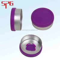 Wholesale china merchandise flip off cap aluminium plastic screw caps