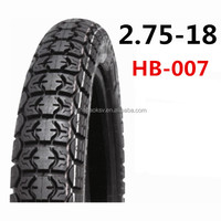 Qingdao high quality size 2.75-18 motorcycle tubeless tyre