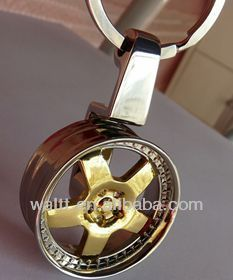 Spinning Wheel Rim Keychains, Spinning Wheel Hub Keychains