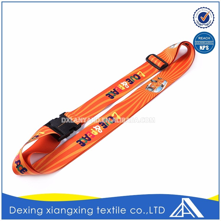 Factory polyester oem orange top quality strap tag luggage scale belt