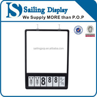 Display Plastic Price Board With Hooks A3A4