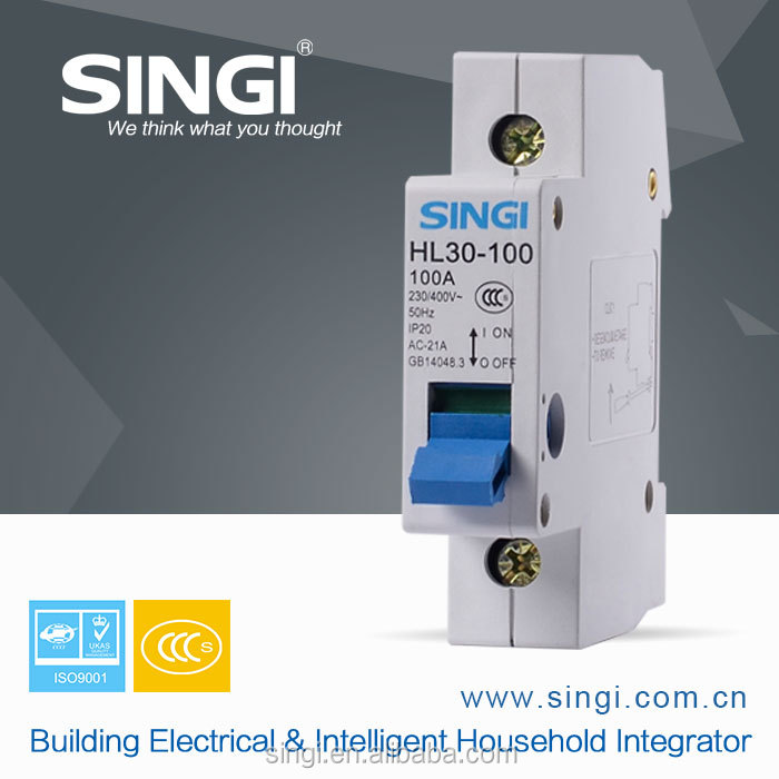 Refinement mini circuit breaker 100A 230V isolation switches
