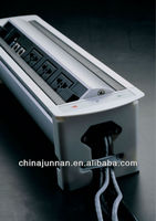 Tabletop metal clad socket / Schuko / HDMI / RCA/ rj45 / USB / VGA / 6.35mm Audio etc. for conference table