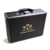 custom luxury leather and metal wine gift box wholesale