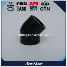 manufacture good quality plastic tube connect elbow PE 45/90/elbow (all plastic)