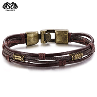 Fashion Accessories Cheap Handmade Engraved Braided