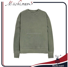 crew neck sweatshirt with washed sweatshirt fabric from guanghzou