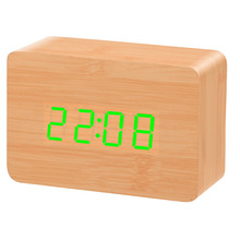 Wake Up Bright & Early with a Retro wood Funky Alarm Clock