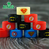 Vape 2016 wholesale silicone rubber vape band, Hero series custom vape band for mechanical mods, free sample wax vape band