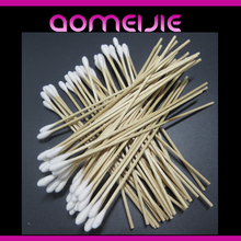 medical wooden cotton swab clean stick