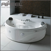 Indoor freestanding acrylic portable 2 person bathtub hydrotherapy soaking whirlpool massage mini bath tub