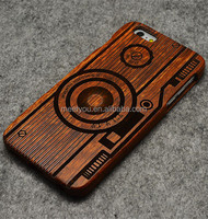 Laser engrave carve case cool vintage camera shape custom diy wood phone case for iphone 4 4S 5C