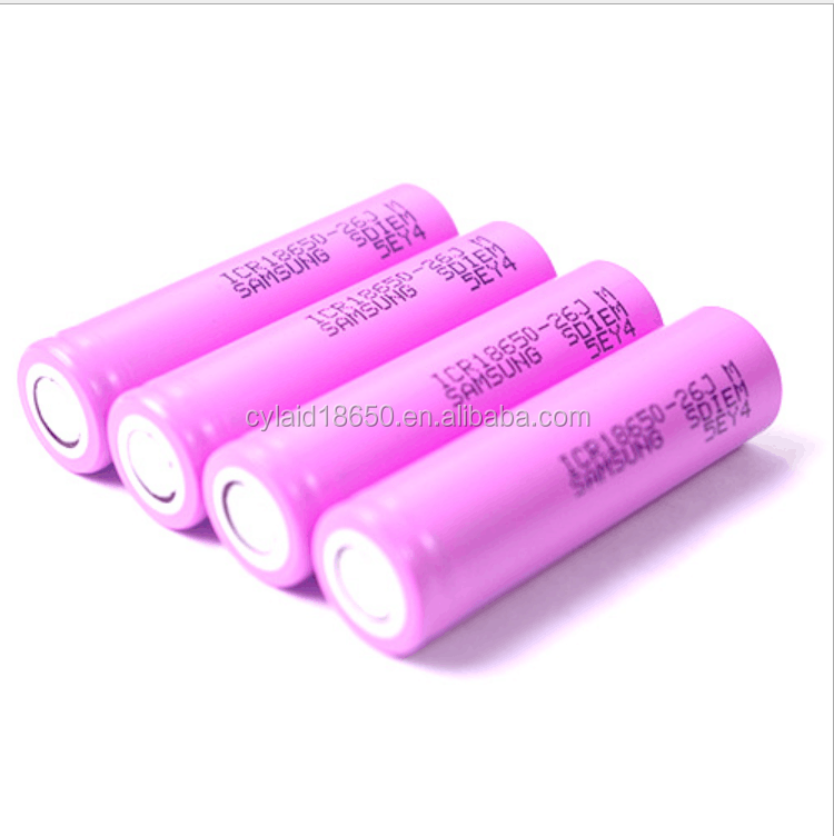 in stock for samsung icr18650-26j 3.7v battery cell PK cylaid high amp e cig mod battery