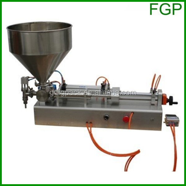 (Pneumatic semi-auto one-head cream filling machine with hand gun(sauce doser with hand trigger, pastry machine)