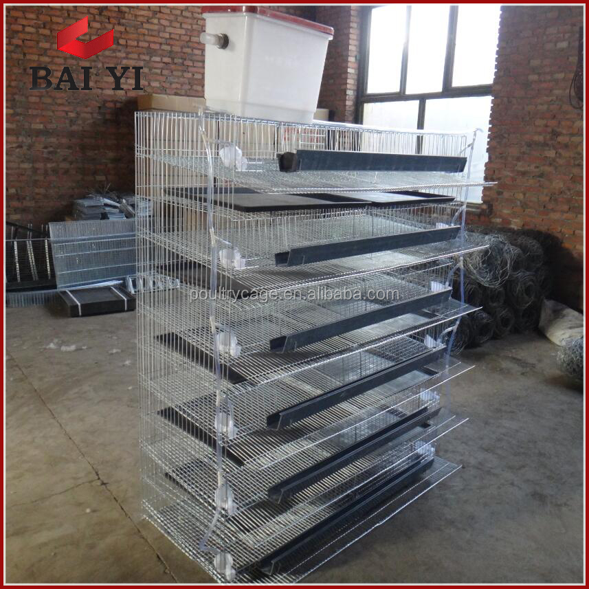 Poultry Battery Metal Laying Hen Quail Brooder Cage