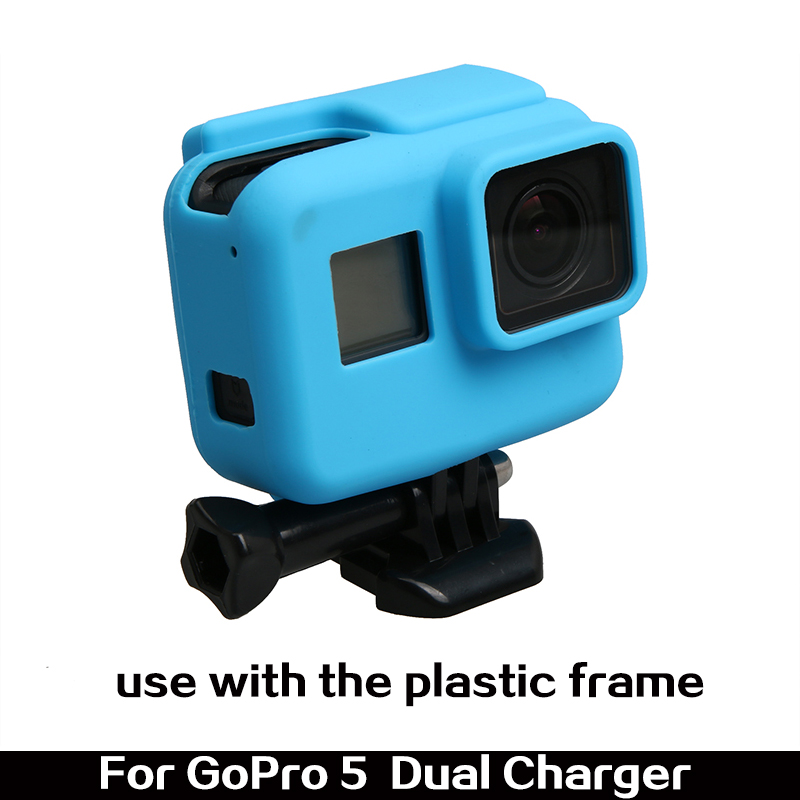 Hero5 accessories Colorful Silicone Protective Housing Soft Skin Case For Gopro Hero 5 Action Camera